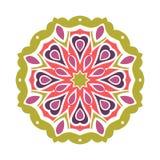 Stor knopp för kalejdoskop Orientalisk modellillustration playnig för bakgrundsblommalampa Arkivfoton