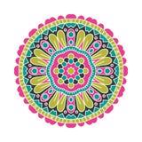 Stor knopp för kalejdoskop Orientalisk modellillustration playnig för bakgrundsblommalampa Royaltyfria Bilder