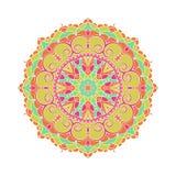 Stor knopp för kalejdoskop Orientalisk modellillustration playnig för bakgrundsblommalampa Arkivbilder