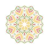 Stor knopp för kalejdoskop Orientalisk modellillustration playnig för bakgrundsblommalampa Fotografering för Bildbyråer