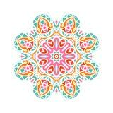 Stor knopp för kalejdoskop Orientalisk modellillustration playnig för bakgrundsblommalampa Royaltyfri Foto