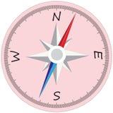 Stor kompass med uppdelningar royaltyfri illustrationer