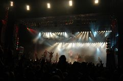 stor konsert Royaltyfria Foton