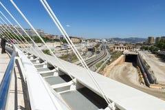 Stor konstruktionsplats i Barcelona Arkivfoton