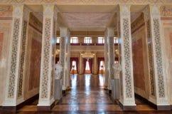 Stor korridor på Stadtschloss i Weimar Royaltyfri Foto