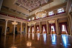 Stor korridor på Stadtschloss i Weimar Arkivbild