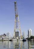 Stor kran i Rotterdam Fotografering för Bildbyråer