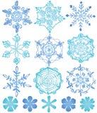 stor kristallsnow för bakgrund royaltyfri illustrationer