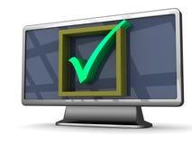 Stor kvalitets- widescreen TVillustration Royaltyfri Foto