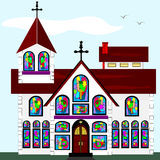 Stor kyrka royaltyfri illustrationer