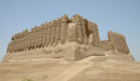 Stor Kyz Kala fästning, Merv, Turkmenistan Royaltyfri Fotografi