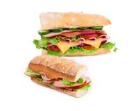 Stor läcker smörgås Arkivbild