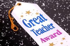 stor lärare för utmärkelse arkivfoto