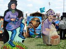 Stor lätt stil för New Orleans jazz & för arvfestival Fotografering för Bildbyråer