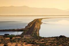 stor lake salt utah Royaltyfri Fotografi