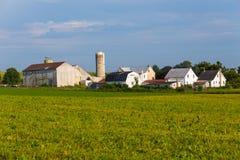 Stor Lancaster County Amish lantgård Fotografering för Bildbyråer