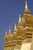 stor laos stupa vientiane Arkivbilder