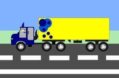 Stor lastbilflyttning Royaltyfri Bild