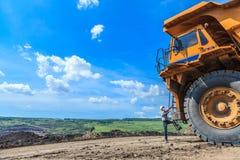 Stor lastbilsförare för man Fotografering för Bildbyråer