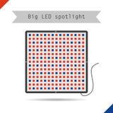 Stor LEDD strålkastare för symbol för växter Royaltyfri Illustrationer