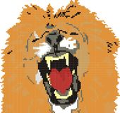 stor lion Arkivbild