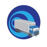 Stor logo för lastbiltrans.företag Arkivbilder