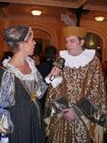 Stor maskeradkläderboll Royaltyfria Bilder