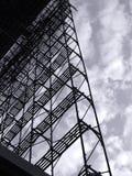 stor material till byggnadsställningscale Arkivbild