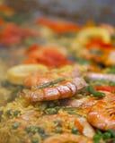 Stor maträtt av paella Royaltyfri Fotografi