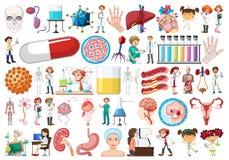 Stor medicinsk objektuppsättning vektor illustrationer
