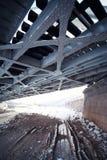 stor metall för bro fotografering för bildbyråer