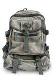 Stor militär ryggsäck som isoleras på vit bakgrund Royaltyfria Foton