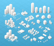 Stor modern stad Arkivfoton