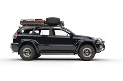 Stor modern 4WD SUV Arkivbild
