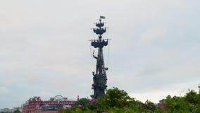 stor monument moscow peter till Fotografering för Bildbyråer