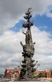 stor monument moscow peter till Royaltyfri Fotografi