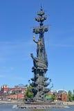 stor monument moscow peter till Royaltyfri Bild
