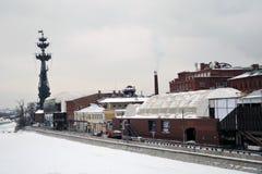 stor monument moscow peter till Royaltyfri Foto