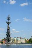stor monument moscow peter till Arkivfoto