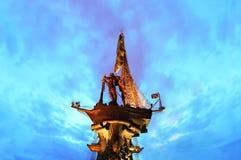 stor monument peter till tsar Royaltyfri Foto