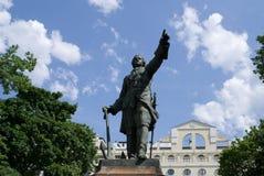 stor monument peter till voronezh Royaltyfria Bilder