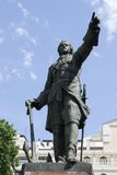 stor monument peter till voronezh Royaltyfria Foton