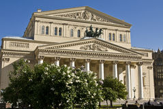 stor moscow theatre Royaltyfri Fotografi