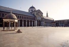 Stor moské av Damascus Arkivfoto