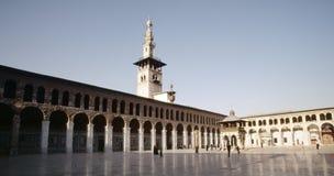 Stor moské av Damascus Arkivbild