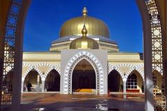 Stor moské av Lawas, Sarawak, Malaysia arkivbilder