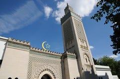 Stor moské av Paris Arkivbilder
