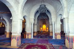 Stor moské av Sousse, Tunisien royaltyfria bilder
