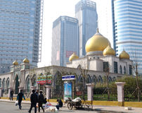 Stor moské i stad Royaltyfri Fotografi