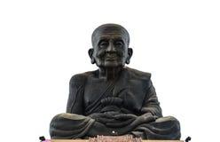 Stor munkbuddha skulptur Thailand Royaltyfria Bilder